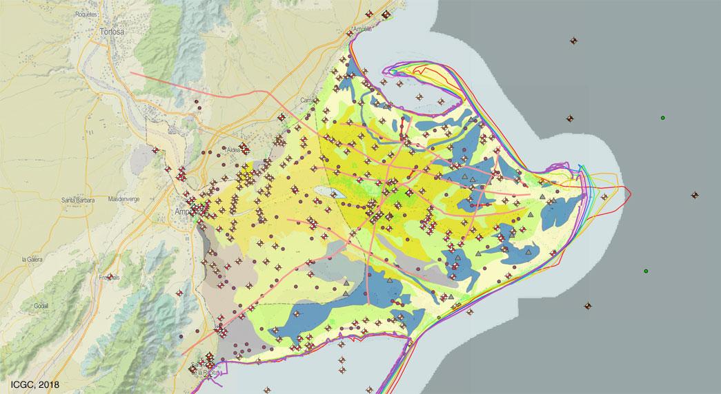 Detall del visualitzador Geoíndex del projecte Life EBRO ADMICLIM