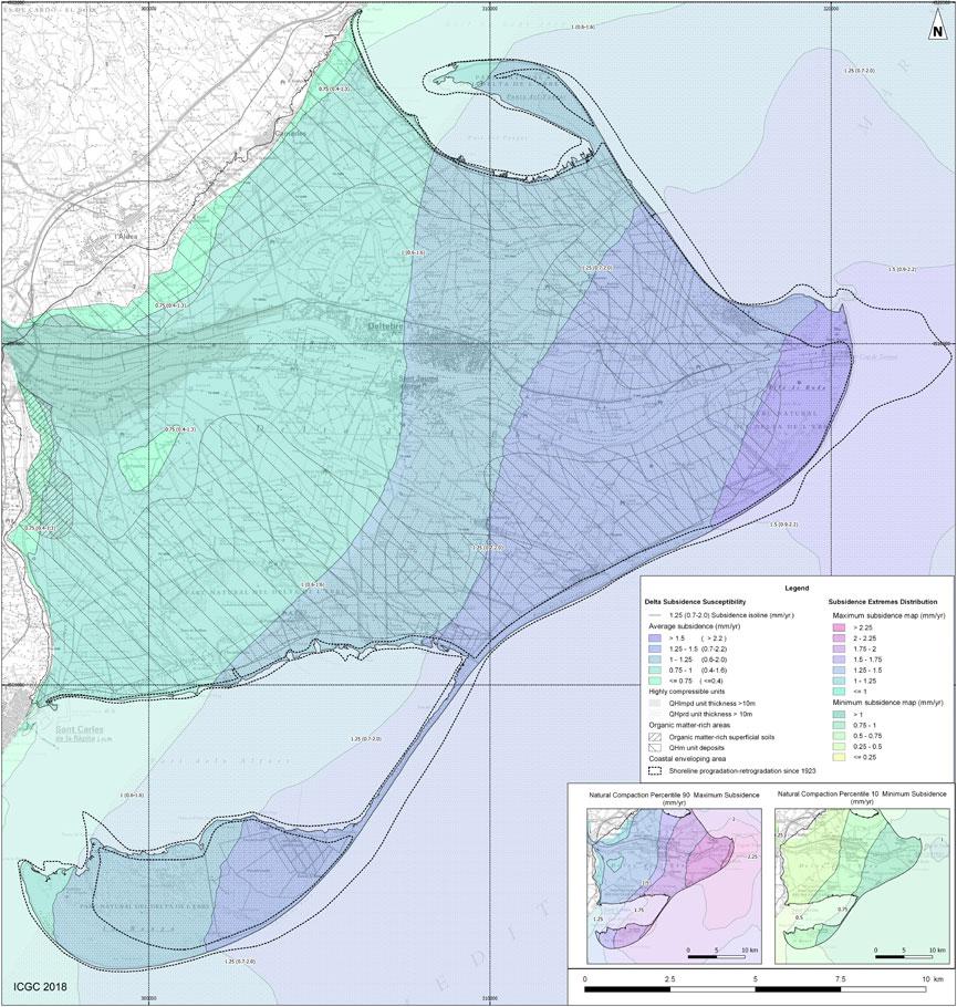 Detall del Mapa de zonificació de la subsidència (v. 6/18; descàrrega 84x59 cm; PDF 18 MB; anglès)