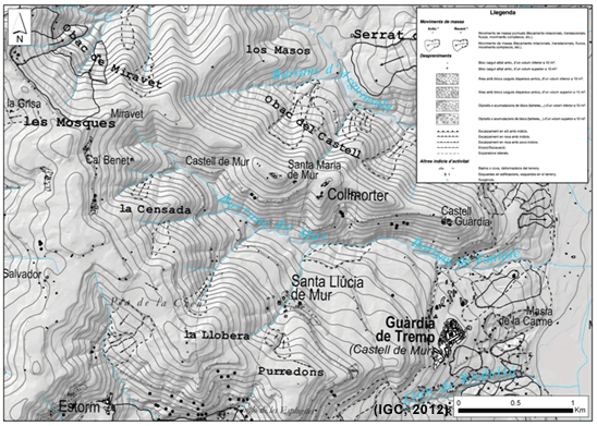Inventari de fenòmens d'un sector del full de Vilamitjana 290-1-1 (65-23)