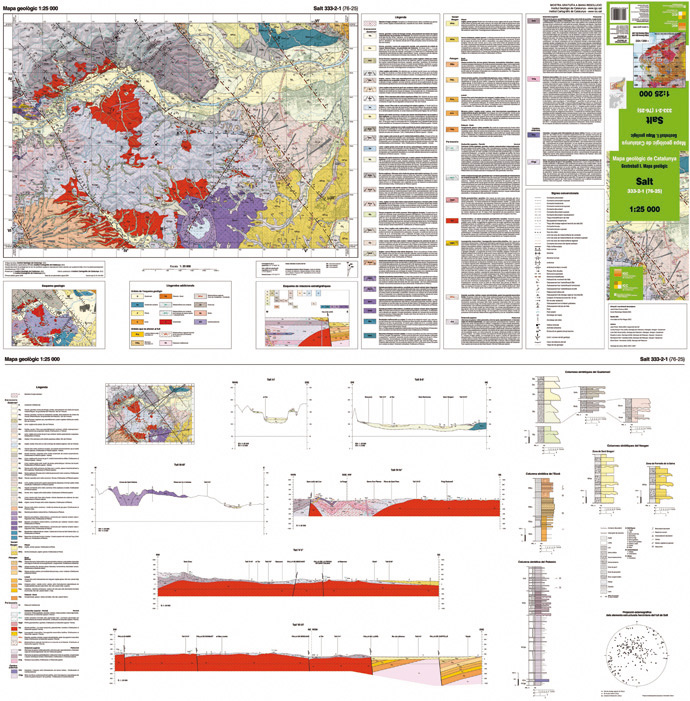Picture a sheet of 1:25 000 geological map (access catalog, in catalan)