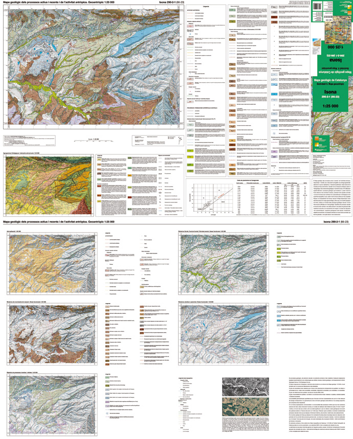 Picture of a sheet of 1:25 000 geoanthropic map (access catalog, in catalan)