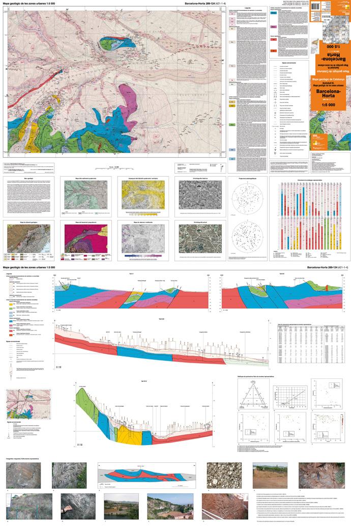 Imatge reduïda d'un full del Mapa geològic de les zones urbanes 1:5.000, Barcelona-Horta 289-124 (421-1-4)