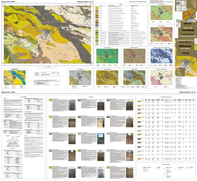 Picture a sheet of the Soil map 1:25 000 (access to Catalog, in catalan)