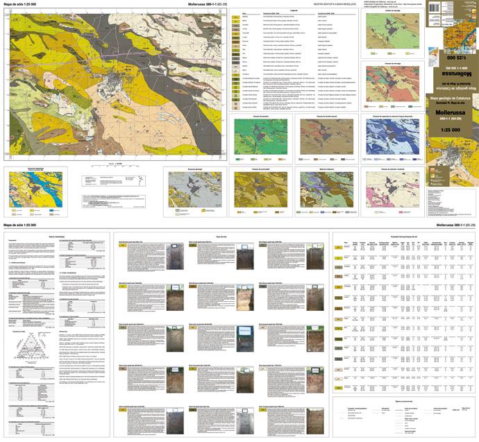 Imatge d'un full del Mapa de sòls 1:25.000, Mollerussa 389-1-1 (65-29)