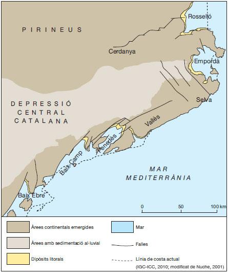 Figura 16: Reconstrucció paleogeogràfica durant el Pliocè inferior, fa 4 Ma.
