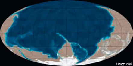 Figura 2: Imatge de la Terra ara fa uns 600 Ma