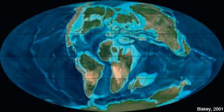 Figura 9: La configuració de la Terra ara fa 90 Ma, al Cretaci superior.