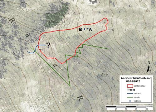 Figura 5: Cartografia de detall de l'allau.