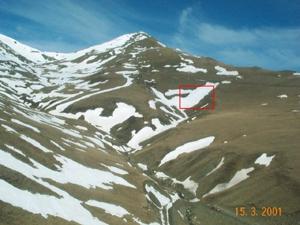 El quadre vermell indica el lloc on es trobà la víctima.