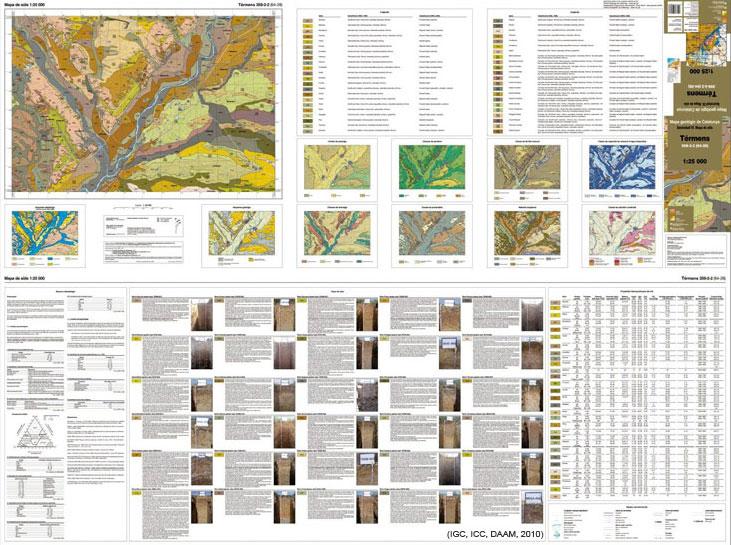 Figura 1. Mapa de sòls 1:25 000 de Catalunya (MSC25M). Full de Térmens 359-2-2 (64-28)