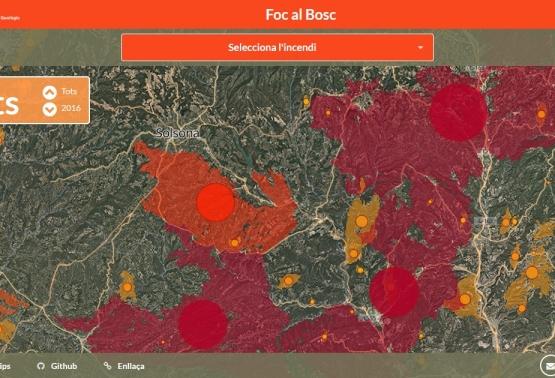 Notícia 275 - Nova aplicació que visualitza l'abast dels incendis sobre el territori
