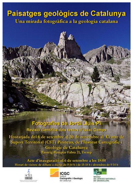 """Cartell de la inauguració, el 6 de setembre del 2018, de l'exposició """"Paisatges geològics de Catalunya"""""""
