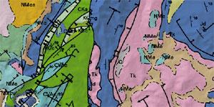 Fragment d'un mapa geològic.
