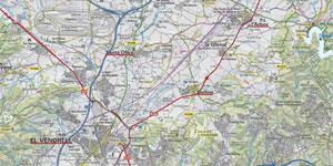 Fragment d'un mapa topogràfic.