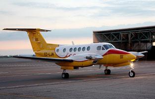L'avió Beechcraft B200GT.