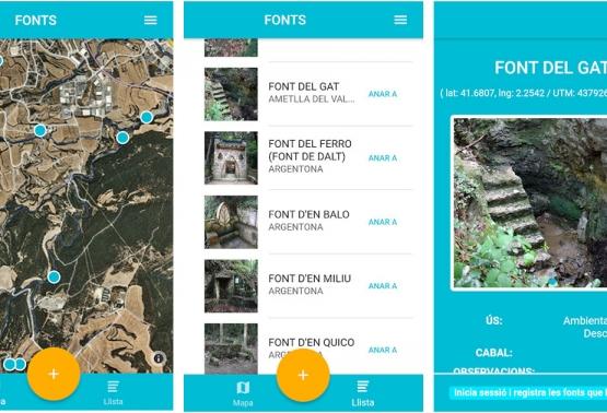Notícia 259 - CercaFonts, la nova aplicació col·laborativa de les fonts naturals de Catalunya