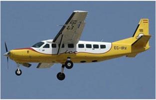 L'avió Cessna Caravan 208B.