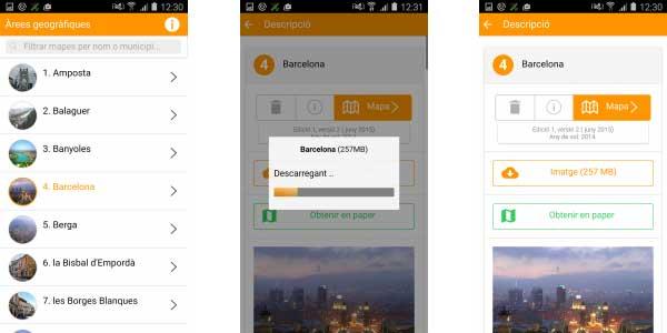 Descripció de llocs al Catalunya Offline