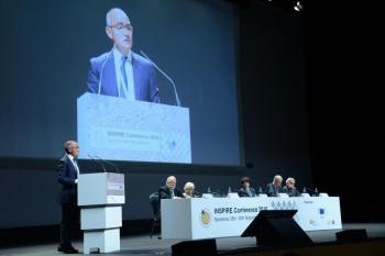 El secretari general, Ferran Falcó, durant la seva intervenció.