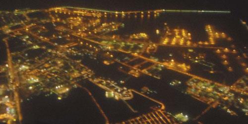 Imatge aèria nocturna d'una zona urbana capturada amb el sensor CASI.