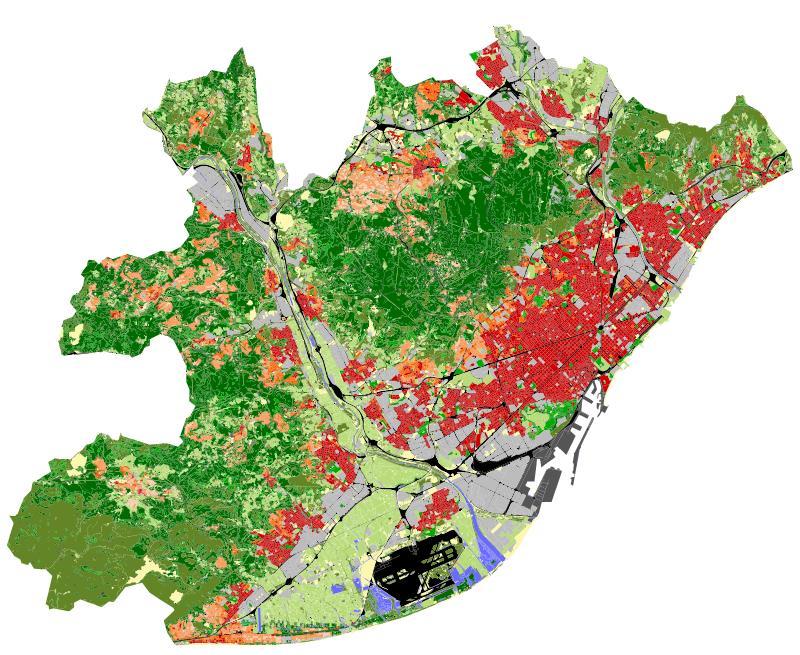 Local climate zones de l'àrea metropolitana de Barcelona