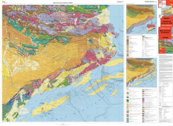 Mapa estructural de Catalunya 1:250.000