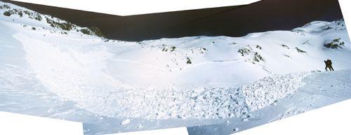 Panorama de l'allau.