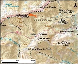 Mapa general de situació de l'allau